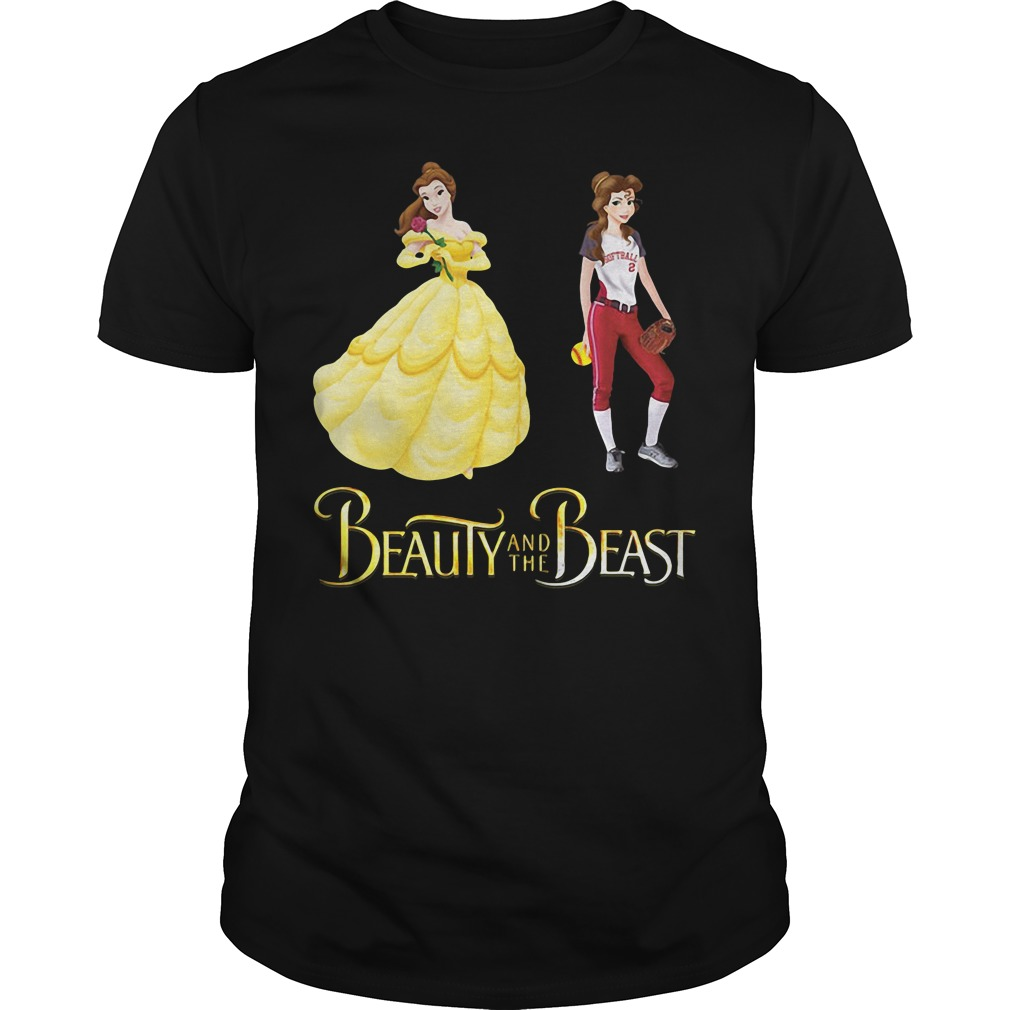 Beauty and the Beast Belle baseball Guys Shirt