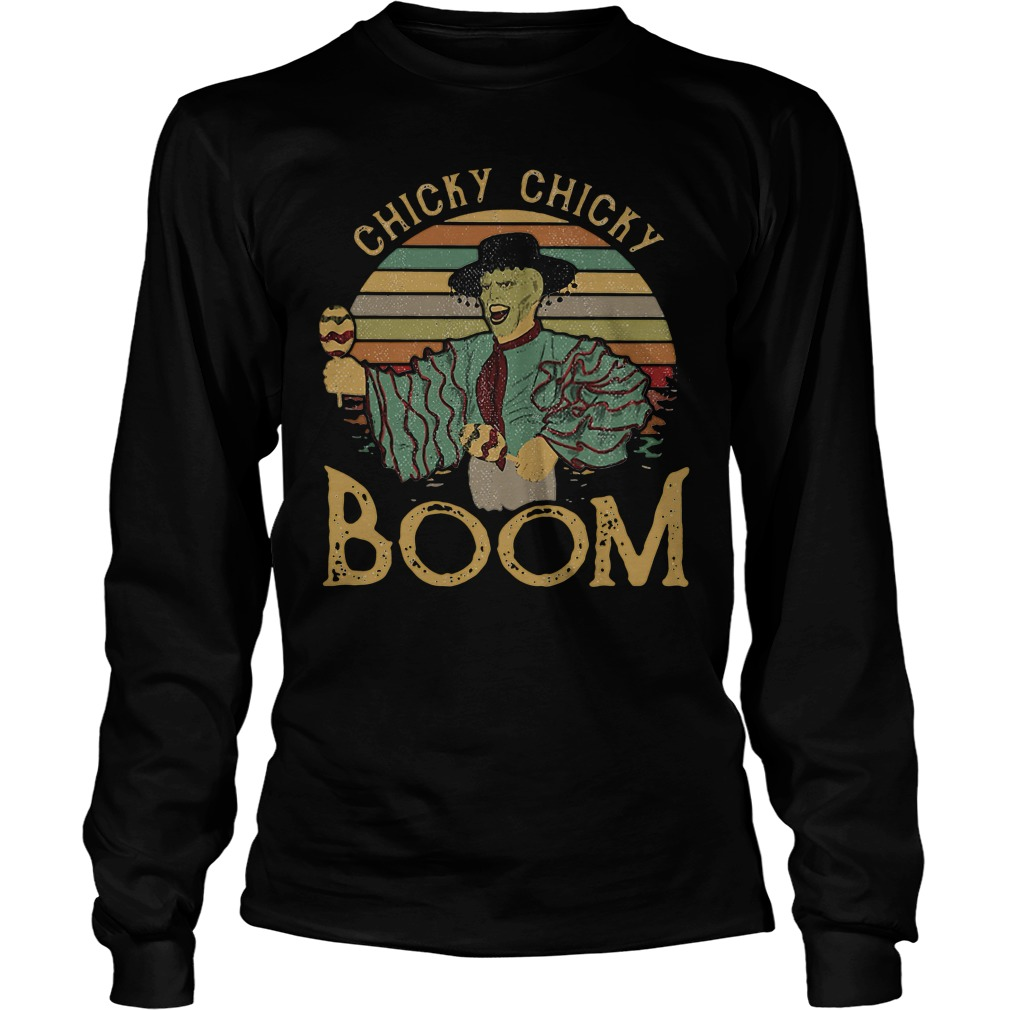 Cuban Pete Jim Carrey chicky chicky boom retro Longsleeve Tee