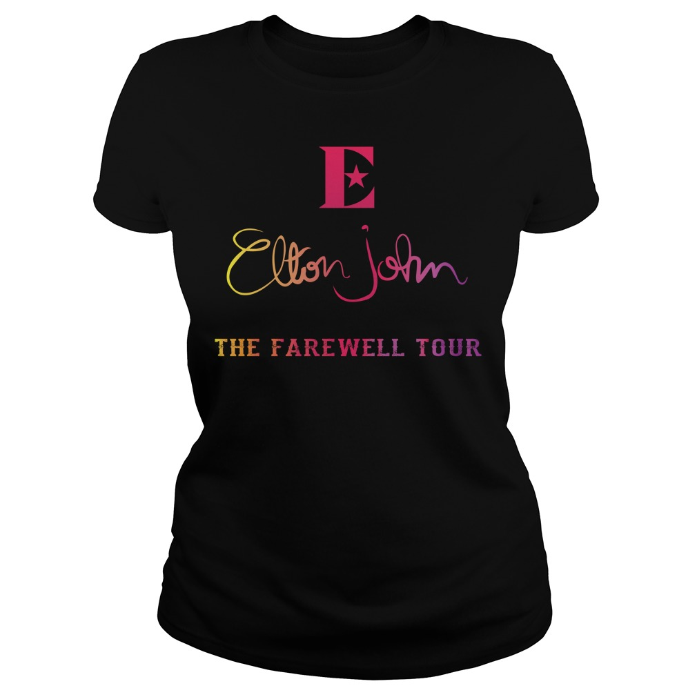 Elton John the farewell tour Ladies Tee