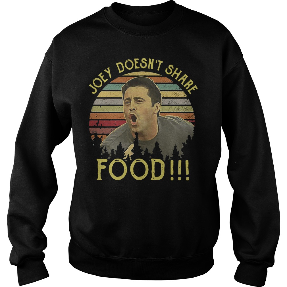 Joey doesn't share food retro sweater