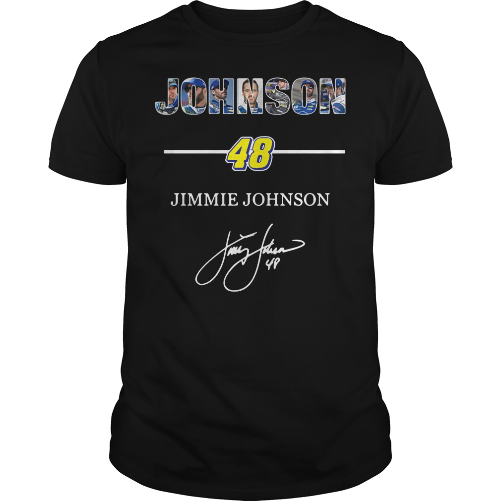 Johnson 48 Jimmie Johnson signature Guys Shirt