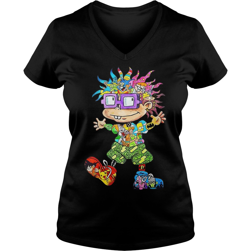 All character Chuckie Finster V-neck T-shirt