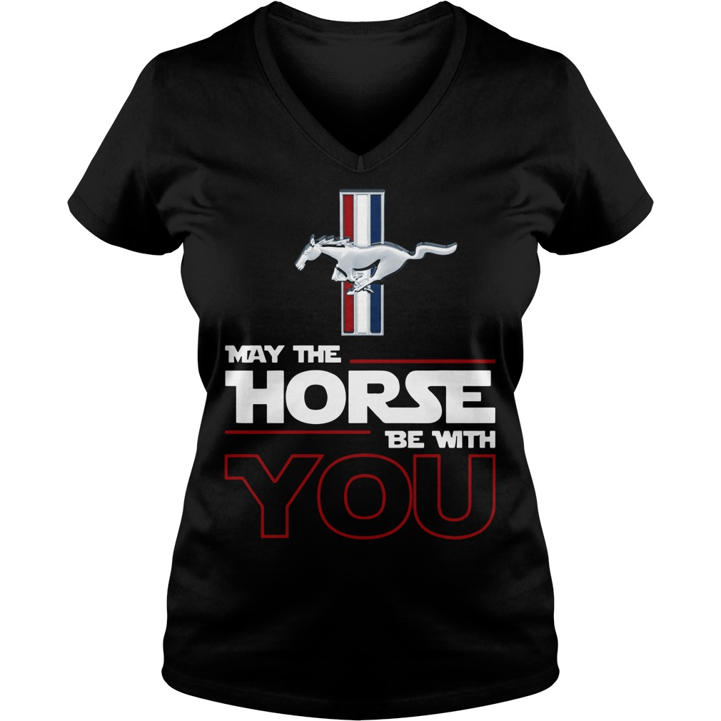 Ford Mustang May the Horse be with you V-neck T-shirt
