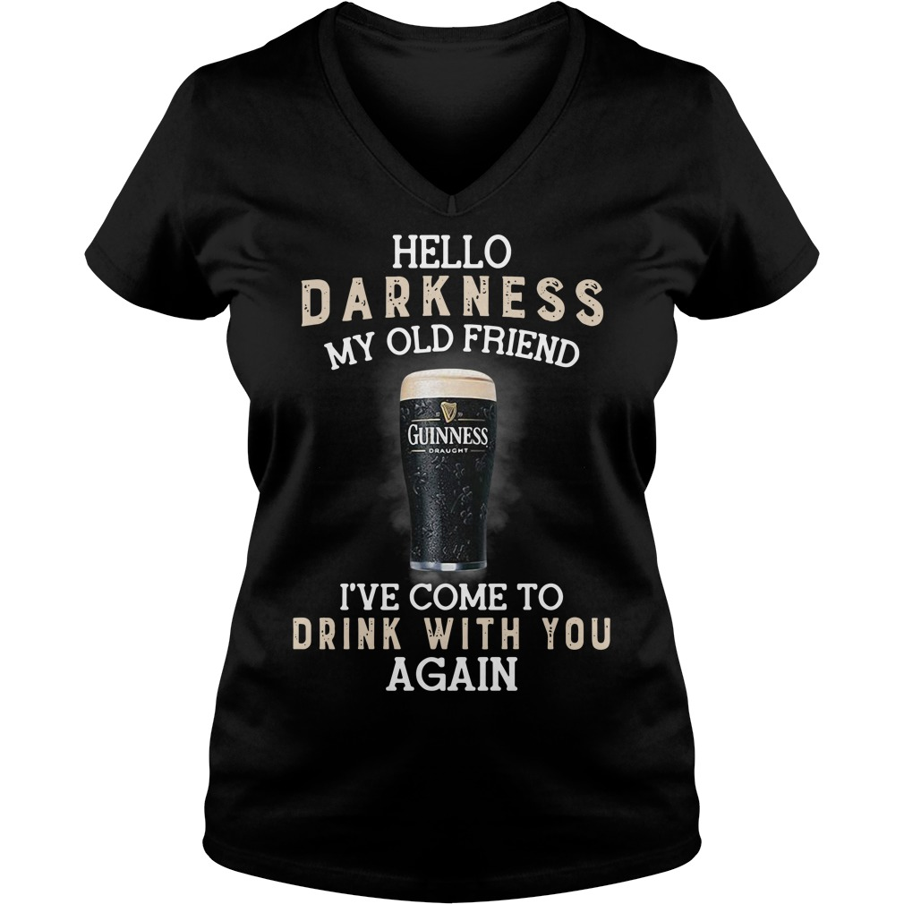 Hello darkness my old friend I've come to drink with you again V-neck T-shirt