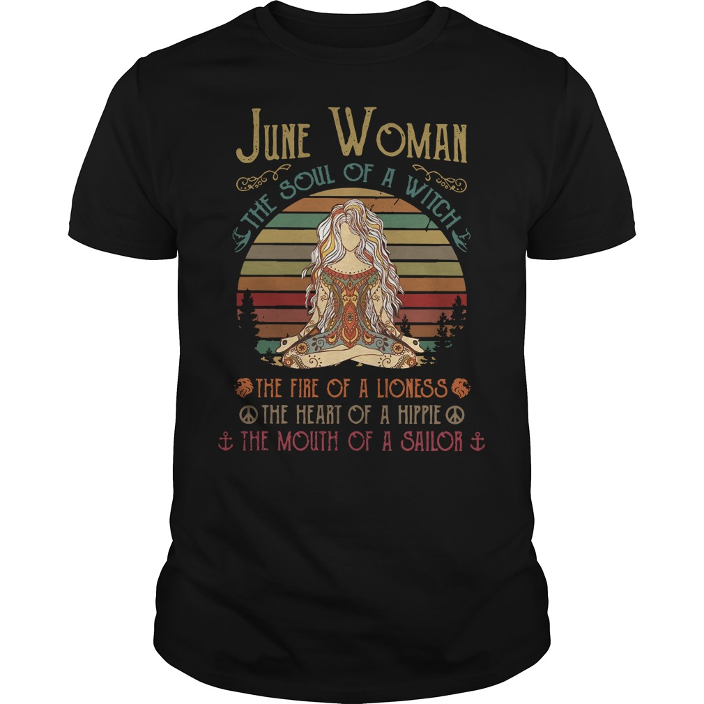 June woman the soul of a witch Guys Shirt