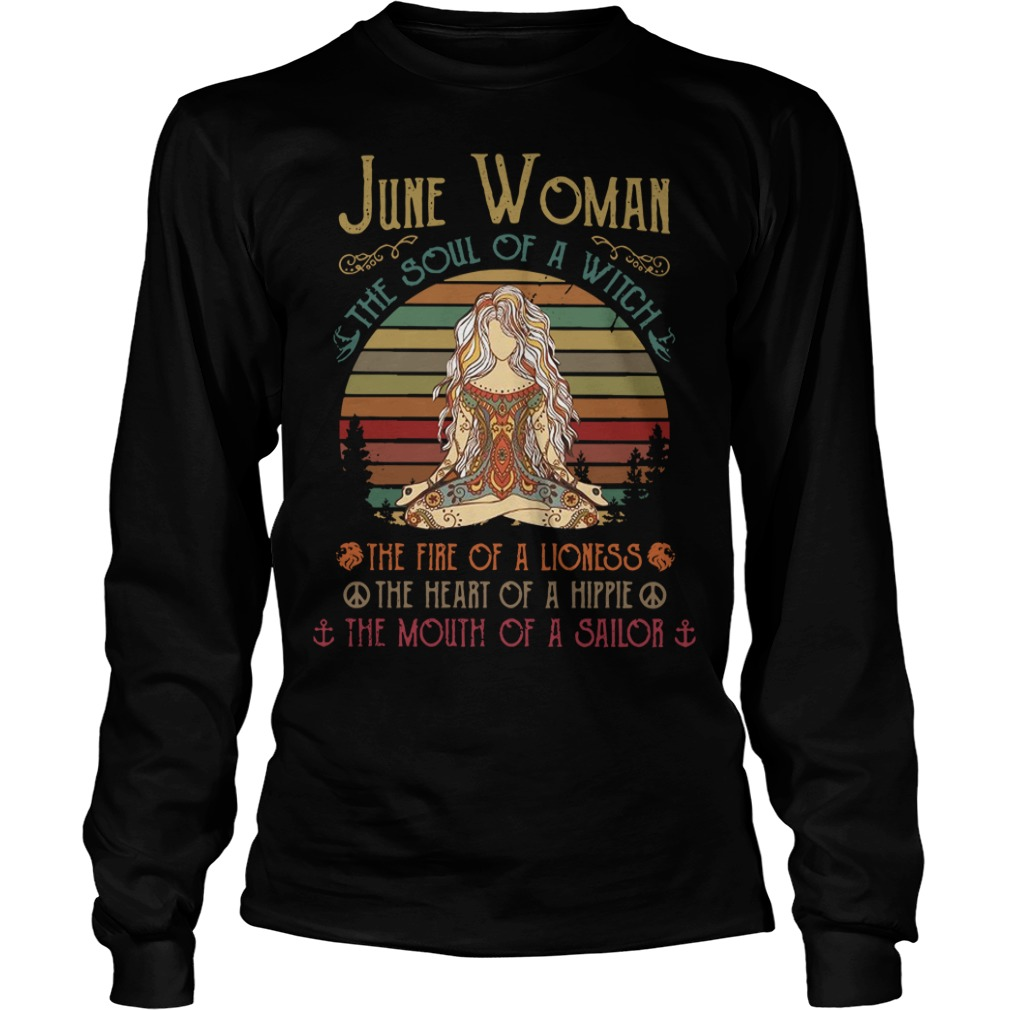 June woman the soul of a witch Longsleeve Tee