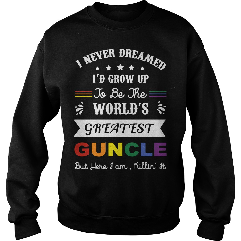I never dreamed I'd grow up to be the world's greatest guncle sweater