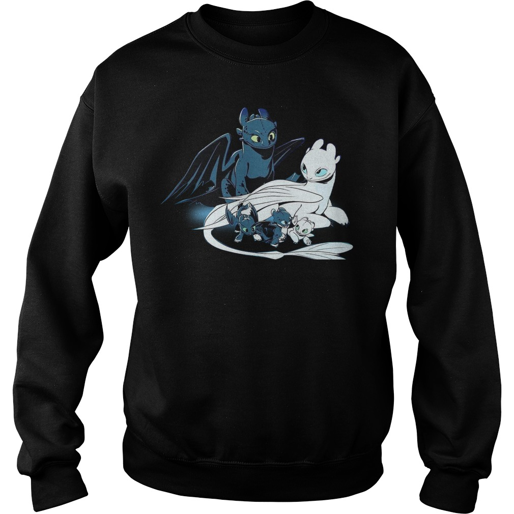 Night Fury and Light Fury babies Sweater
