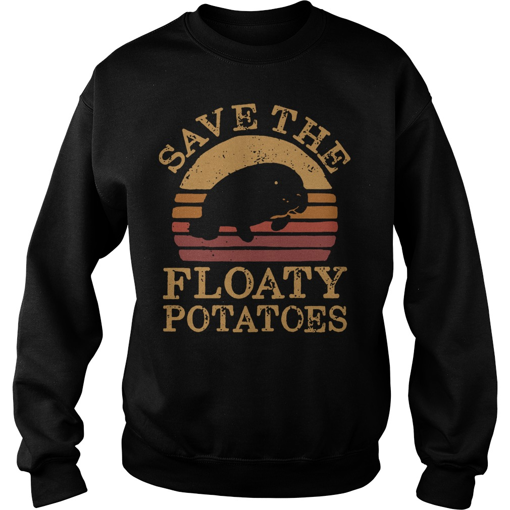 Save the Floaty potatoes vintage Sweater