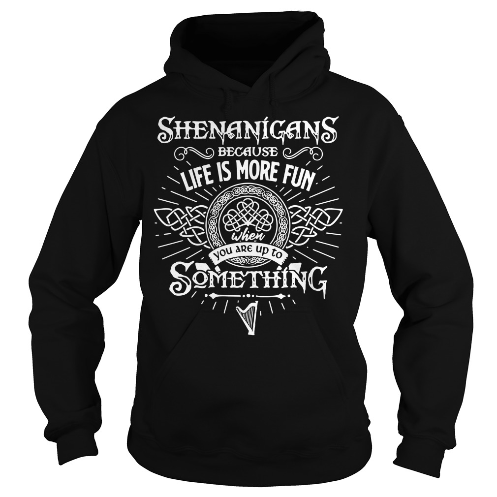 Shenanigans because life is more fun when you are up to something Hoodie