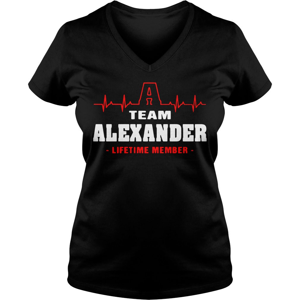 A team Alexander lifetime member V-neck T-shirt
