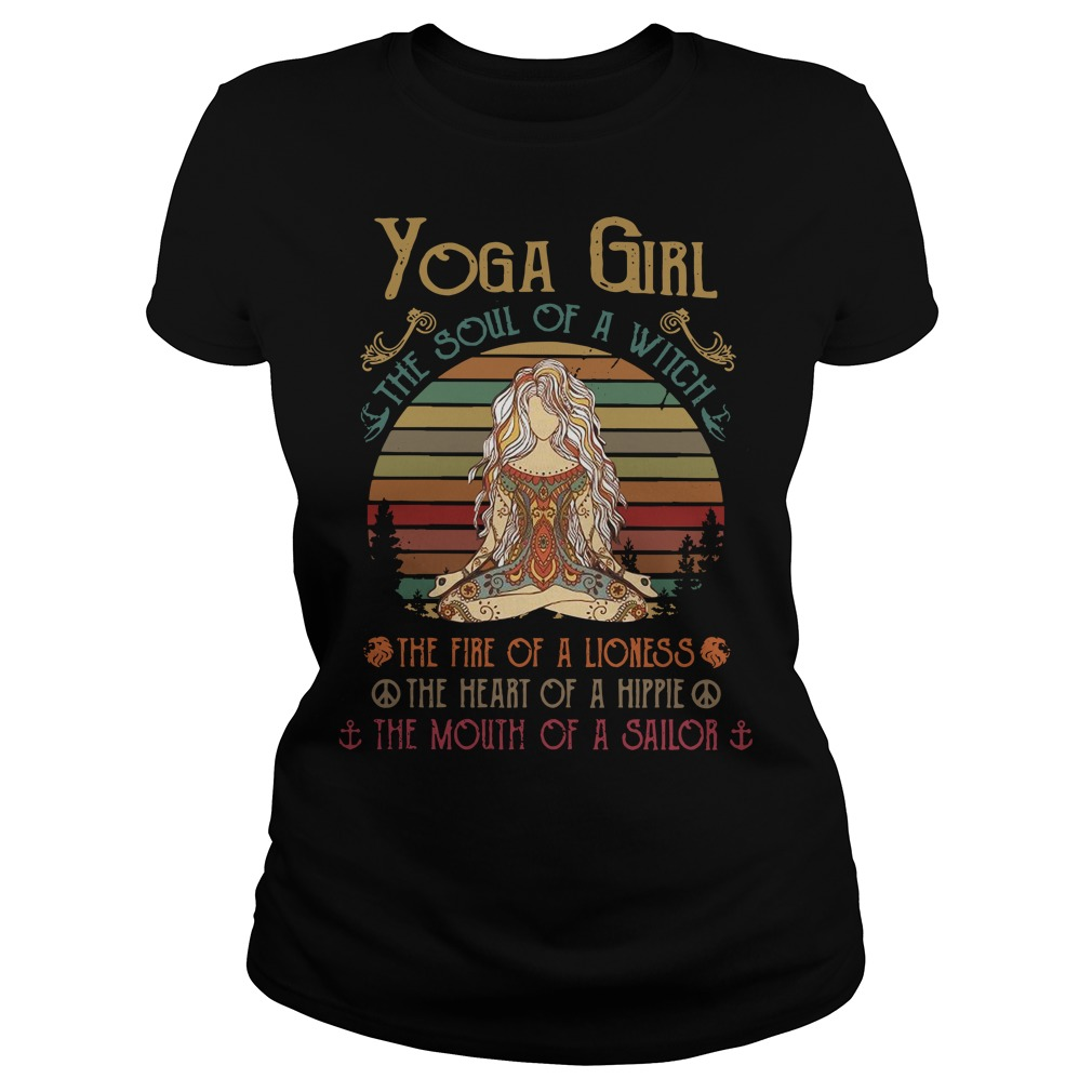 Yoga girl the soul of a witch Ladies Tee