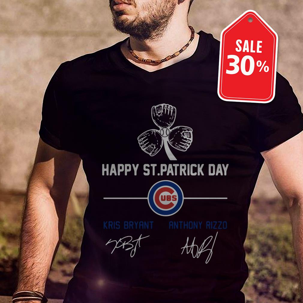 Happy St Patrick's day Chicago Cubs Kris Bryant Anthony Rizzo shirt