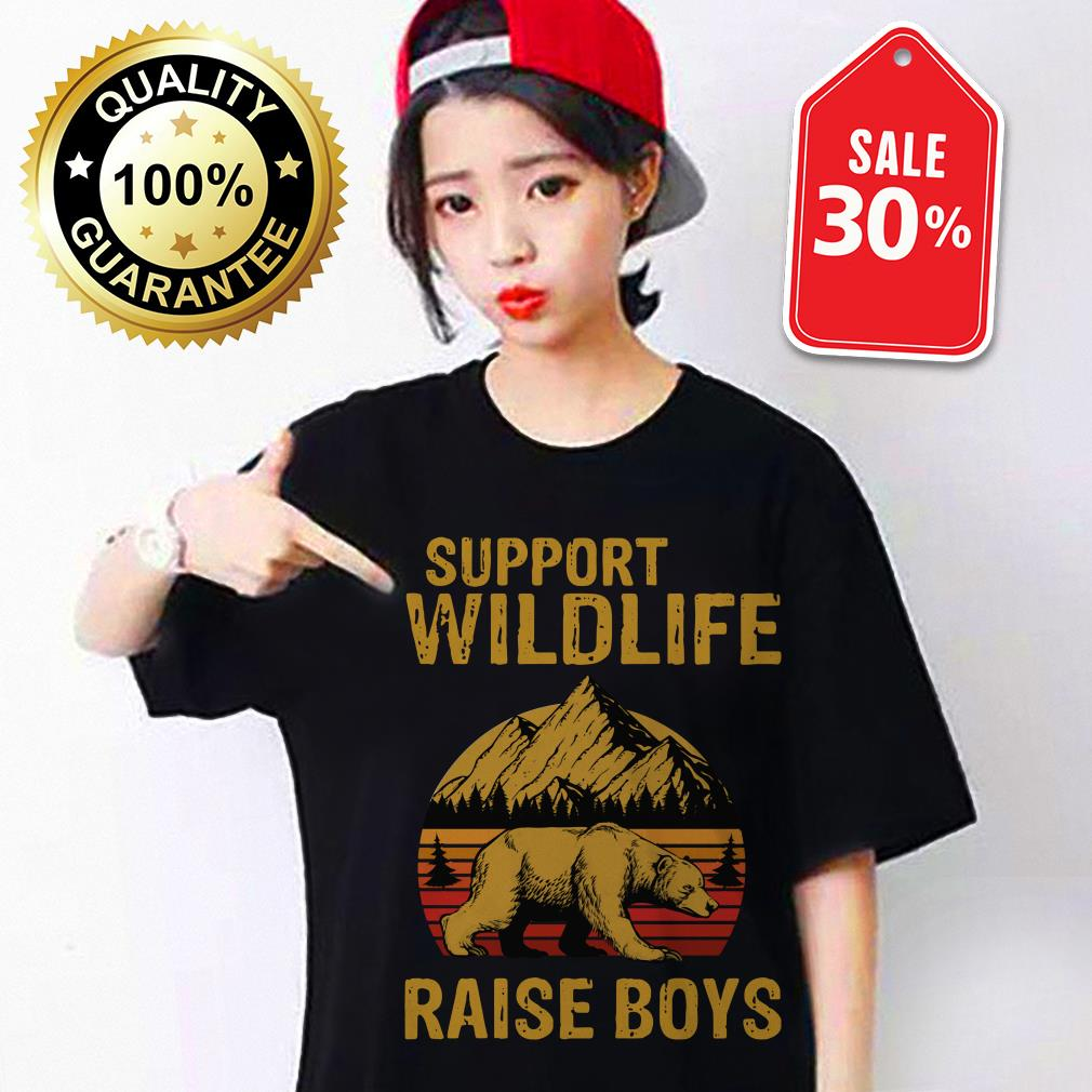 Bear support wildlife raise boys vintage shirt