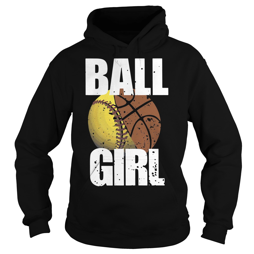 Baseball basketball ball girl Hoodie
