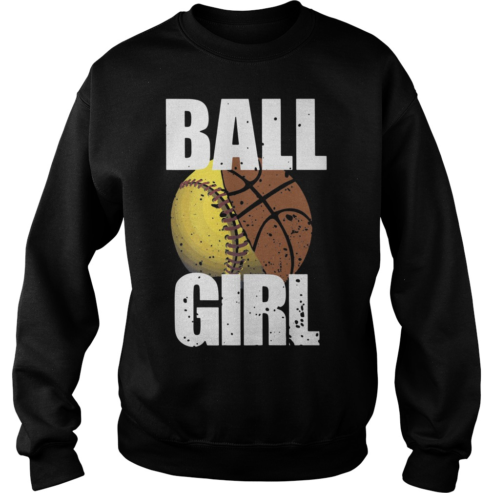 Baseball basketball ball girl Sweater