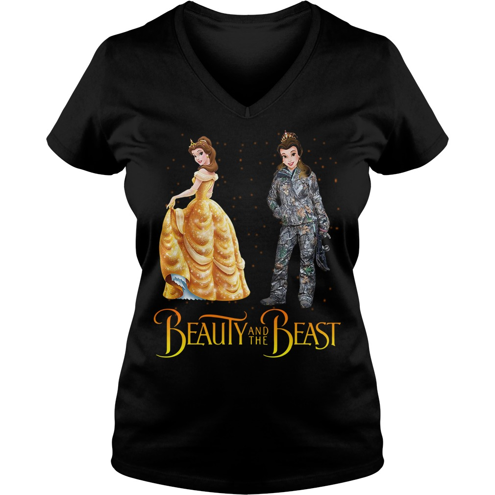 Beauty and the Beast Belle astronaut V-neck T-shirt