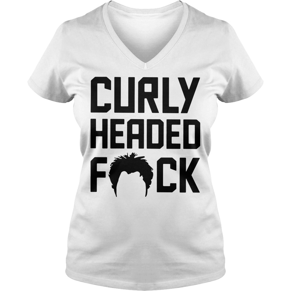Ben Askren Curly headed fuck V-neck T-shirt