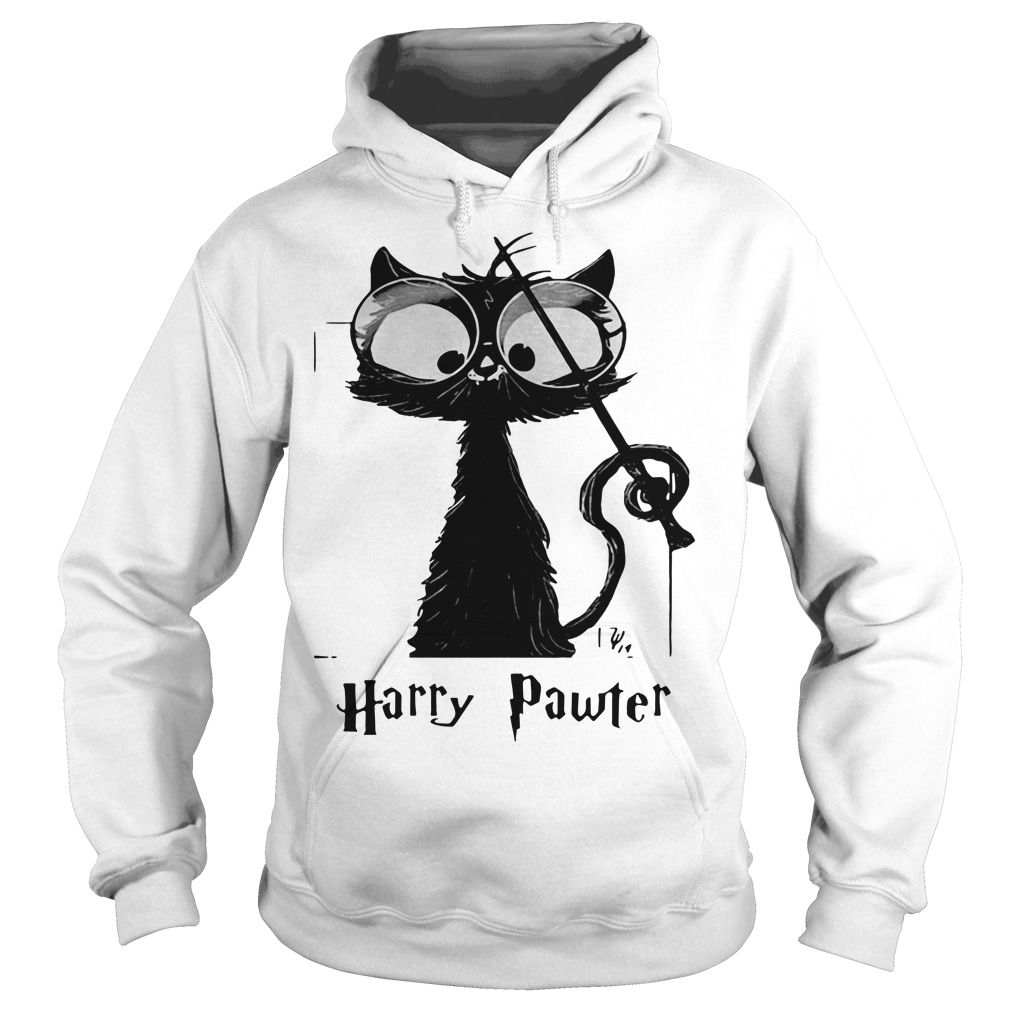 Black cat Harry Pawter Hoodie