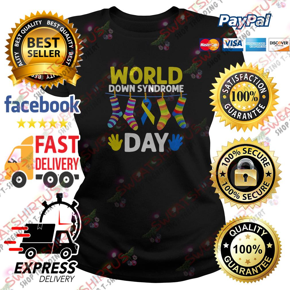 Breast cancer socks world down syndrome day Ladies Tee