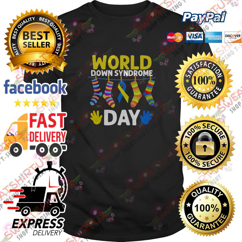 Breast cancer socks world down syndrome day shirt