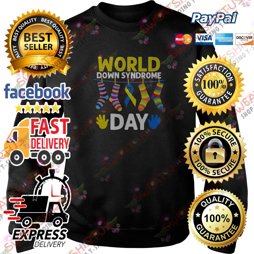 Breast cancer socks world down syndrome day Sweater