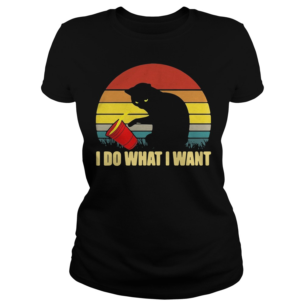 Cat I do what I want vintage Ladies Tee