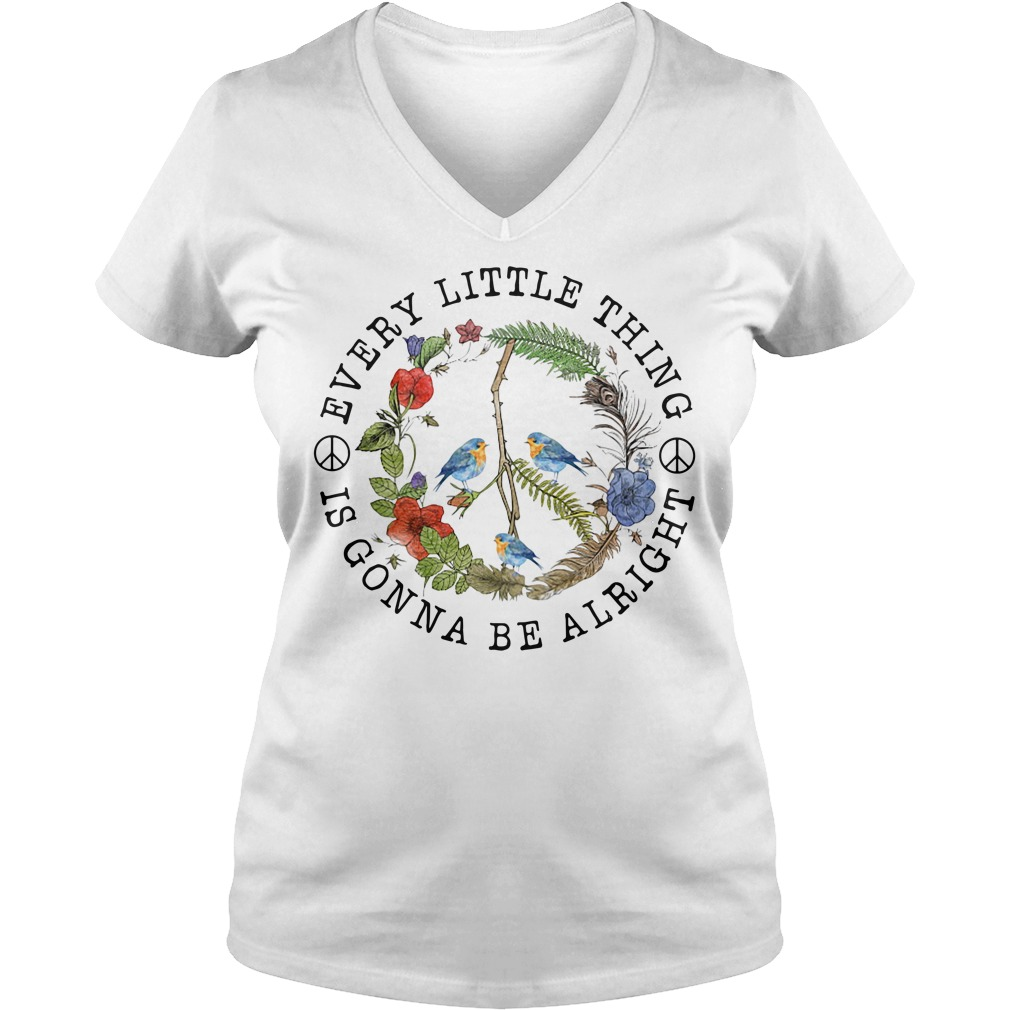 Every little thing is gonna be alright V-neck T-shirt