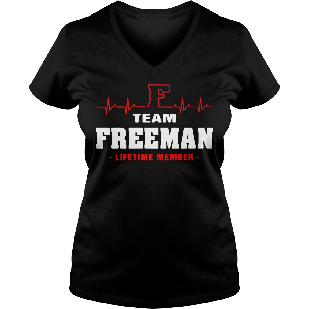 F team Freeman lifetime member V-neck T-shirt