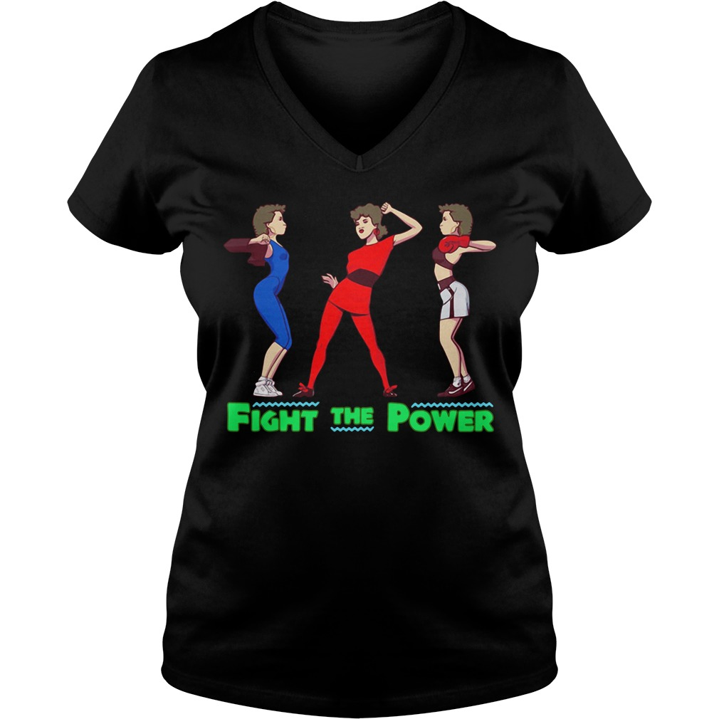 Fight the power V-neck T-shirt