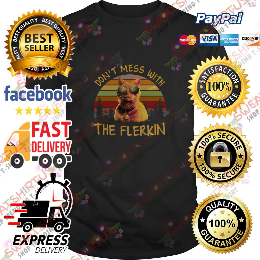 Goose the cat don't mess with the Flerkin vintage shirt