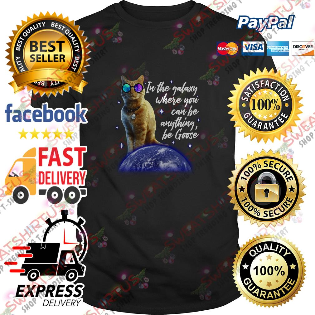 Goose the cat in the galaxy where you can be anything be Goose shirt