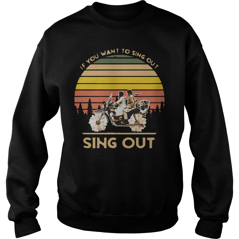 Harold and Maude if you want to sing out sing out vintage Sweater