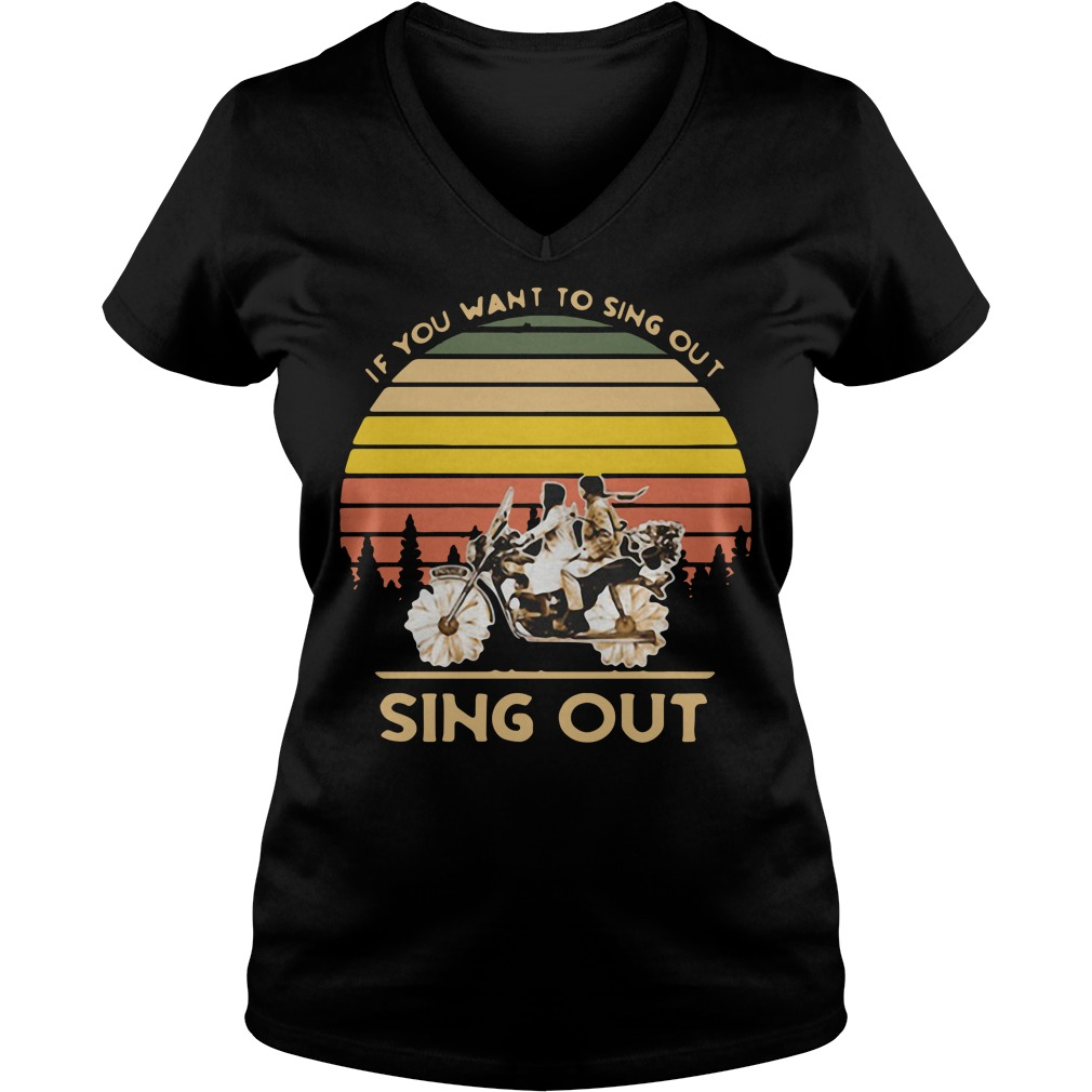 Harold and Maude if you want to sing out sing out vintage V-neck T-shirt