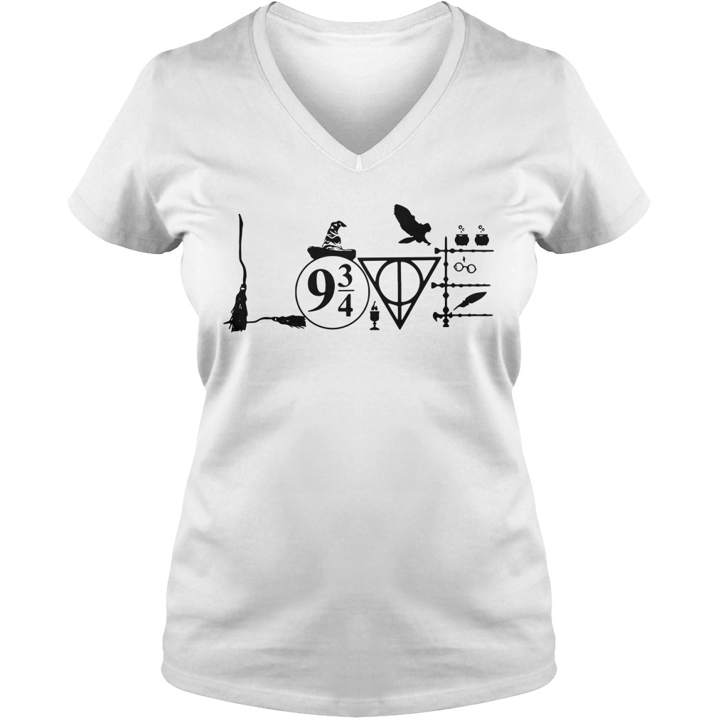 Harry Potter love V-neck T-shirt