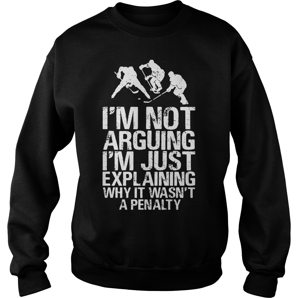 I'm not arguing I'm just explaining why it wasn't a penalty Sweater