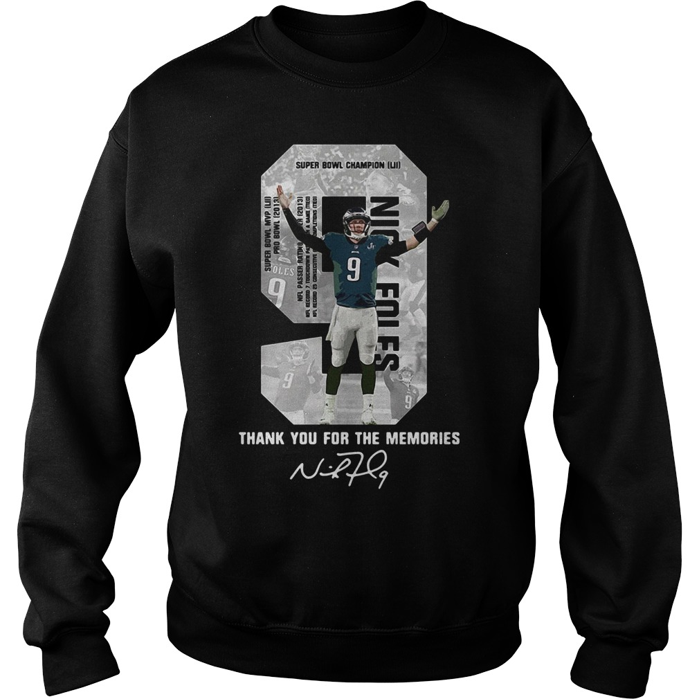 Nick Foles Super Bowl LII thank you for the memories Sweater