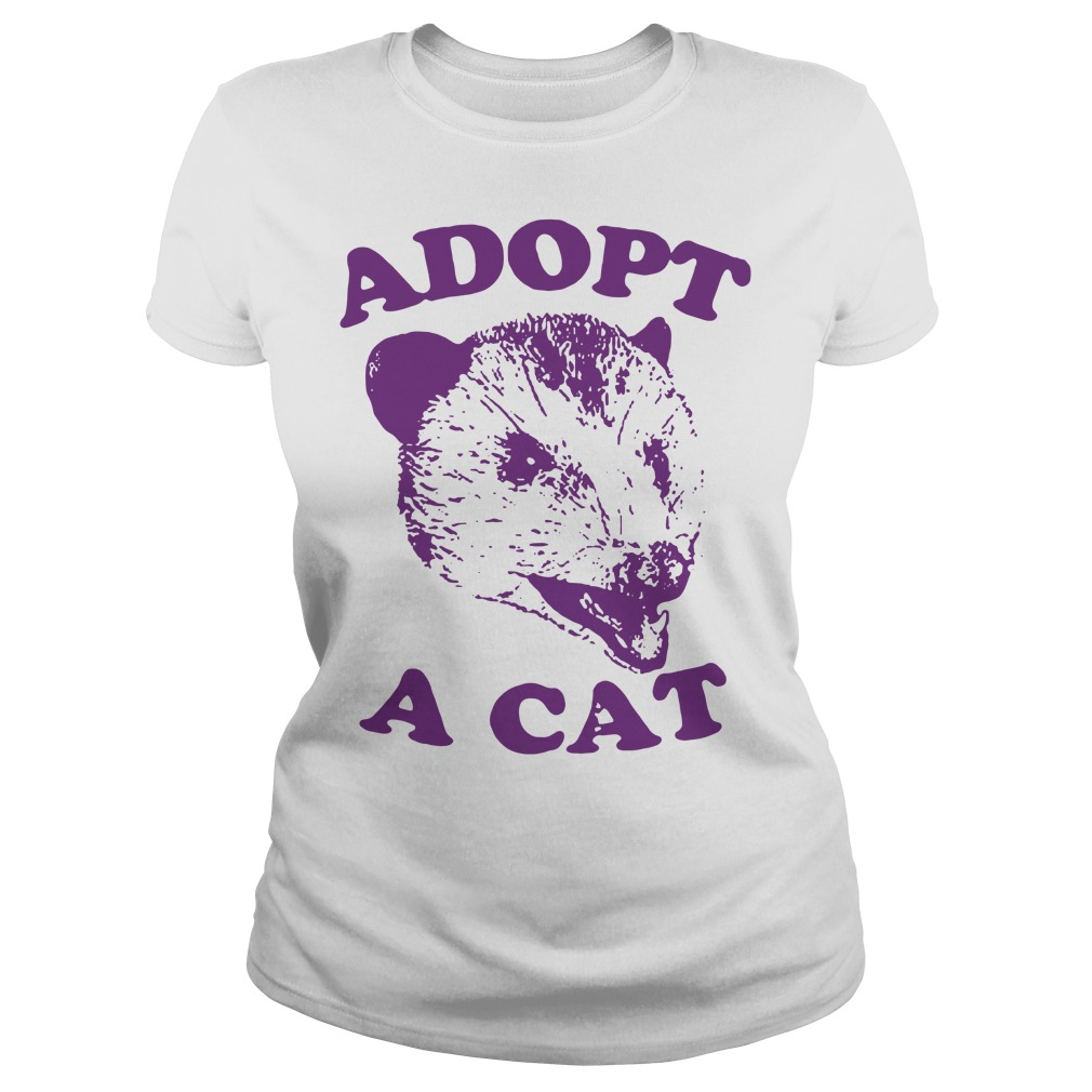 Official Adopt a cat Ladies Tee