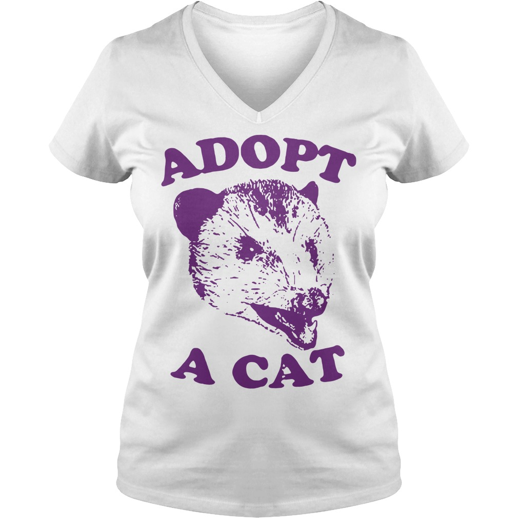 Official Adopt a cat V-neck T-shirt