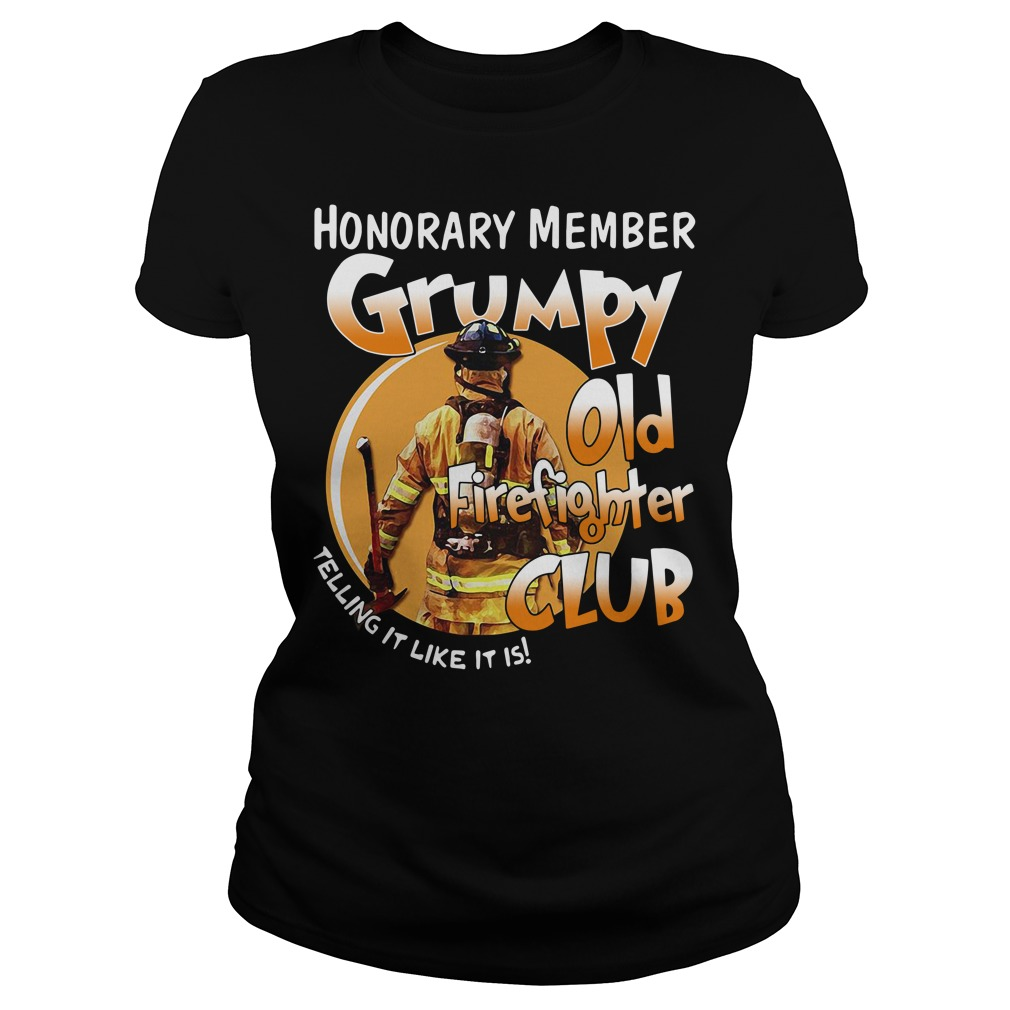 Official Honorary member Grumpy old firefighter club telling it like it is V-neck T-shirt