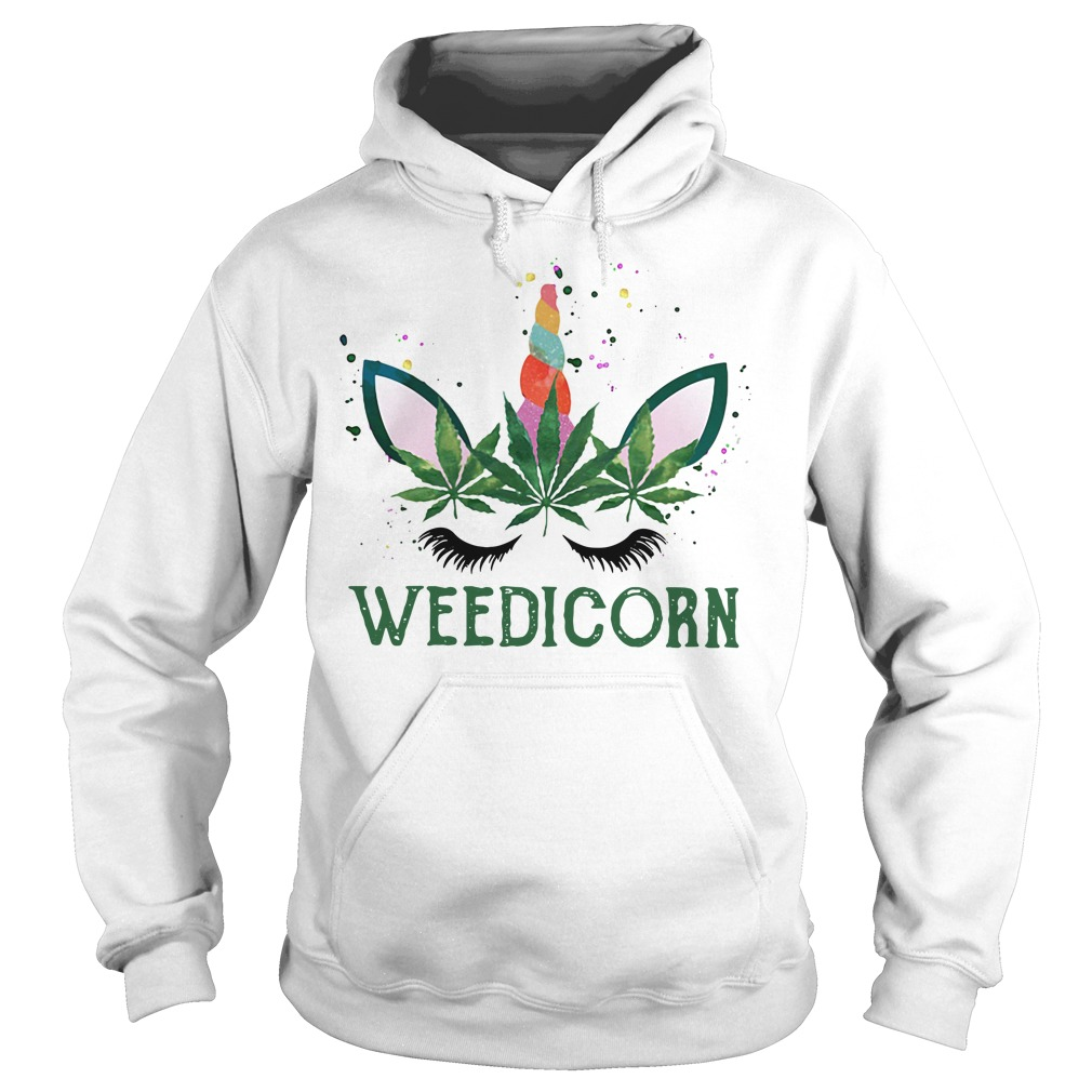 Official unicorn Weedicorn Hoodie