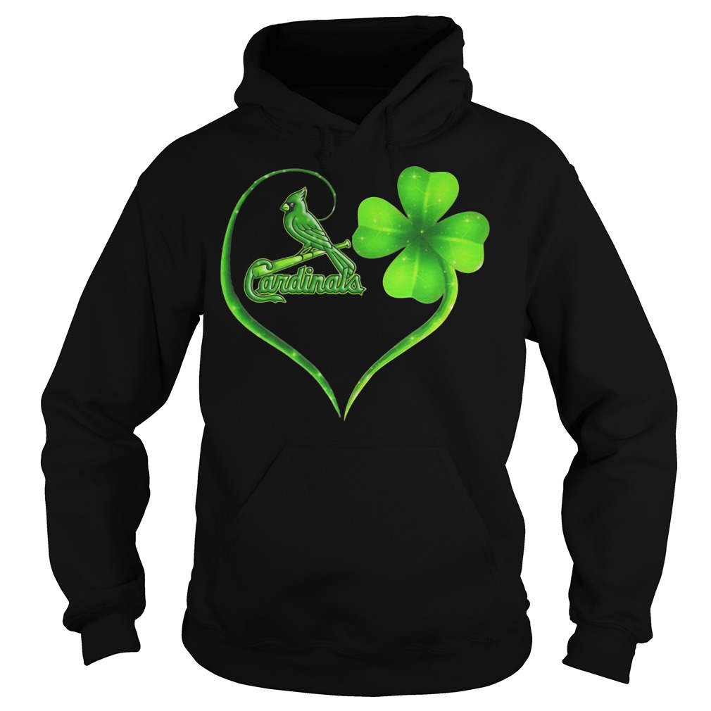 St Patrick's day Parrot Cardinals clover Hoodie