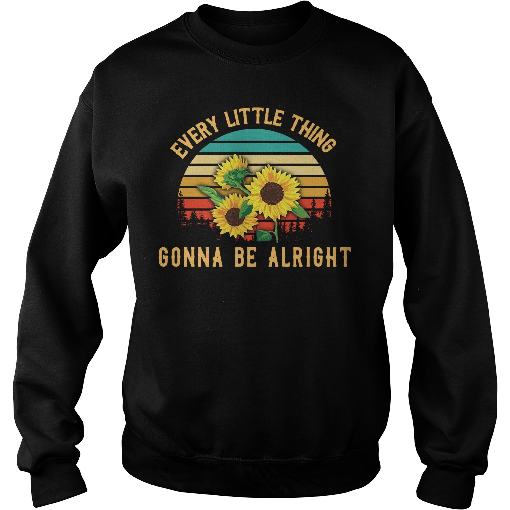 Sunflower every little thing gonna be alright vintage Sweater