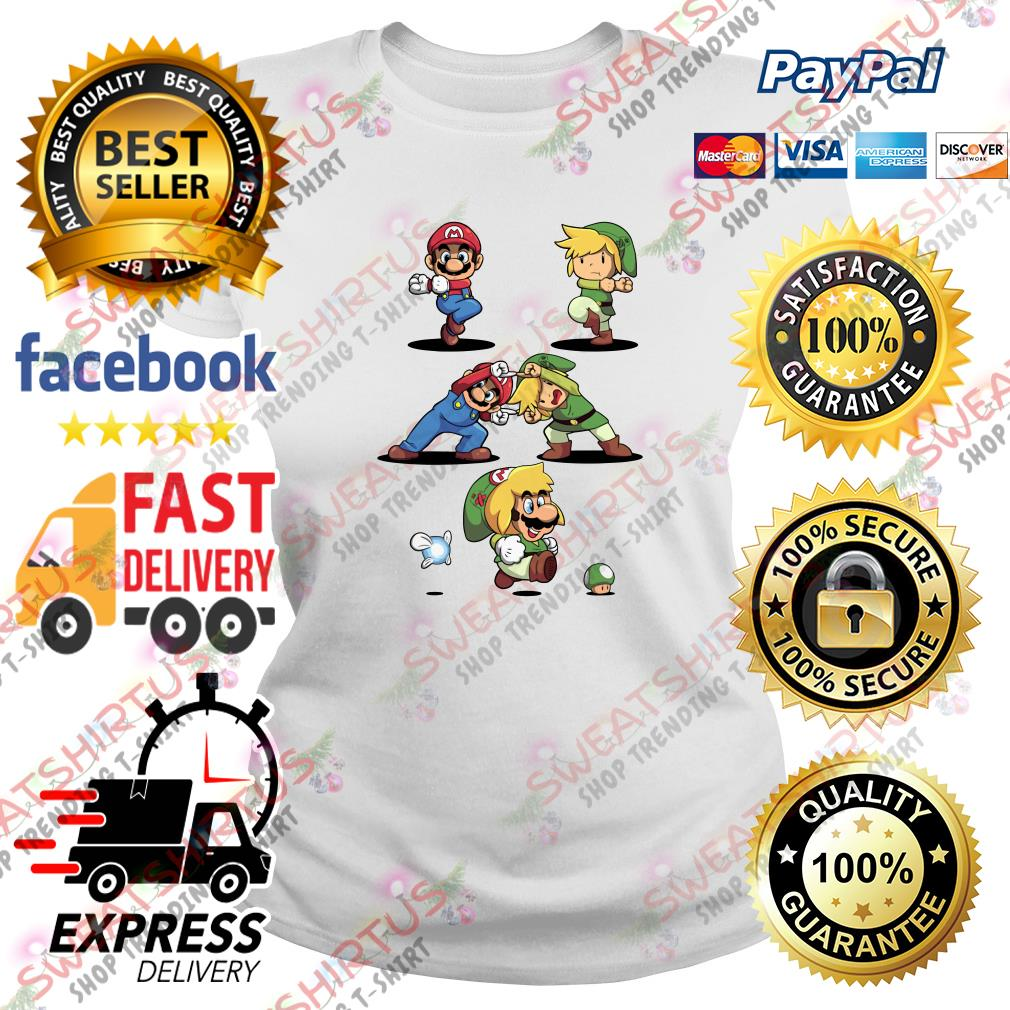 Super Mario and Toon Link fusion dance Ladies Tee