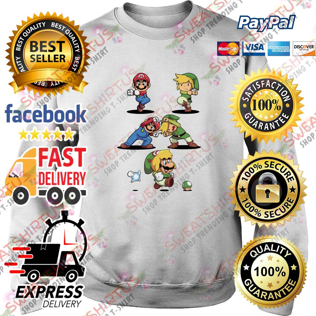 Super Mario and Toon Link fusion dance Sweater