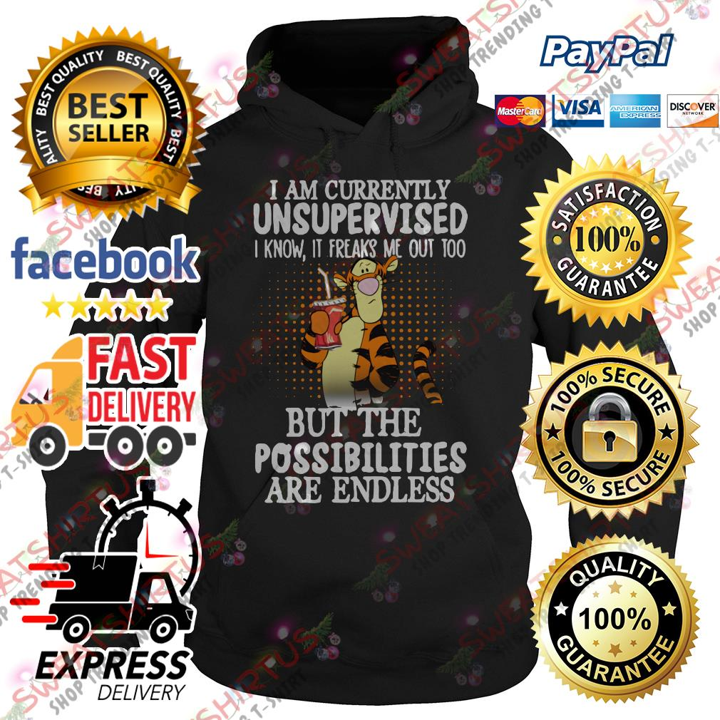 Tiger I am currently unsupervised I know it freaks me out too Hoodie
