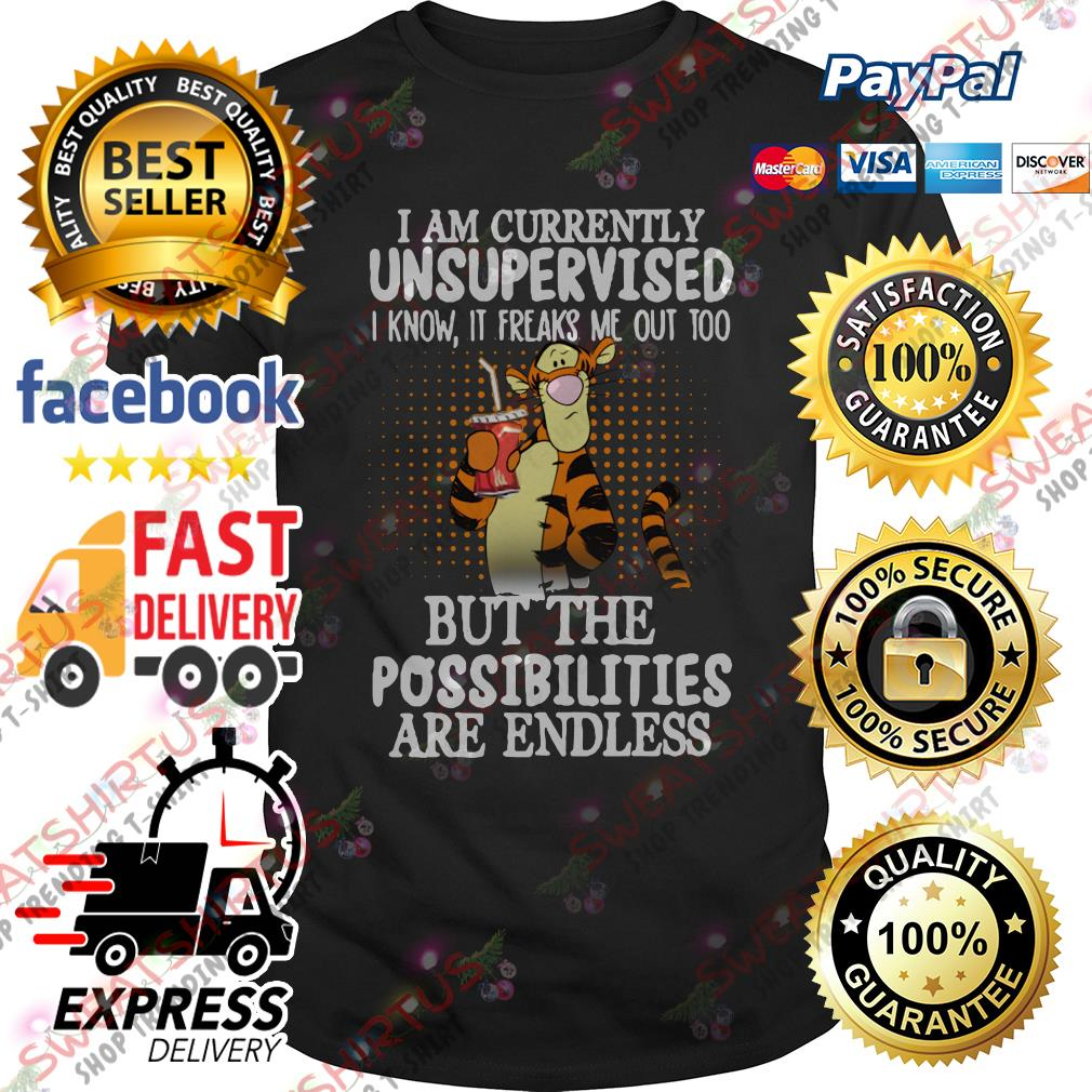 Tiger I am currently unsupervised I know it freaks me out too shirt