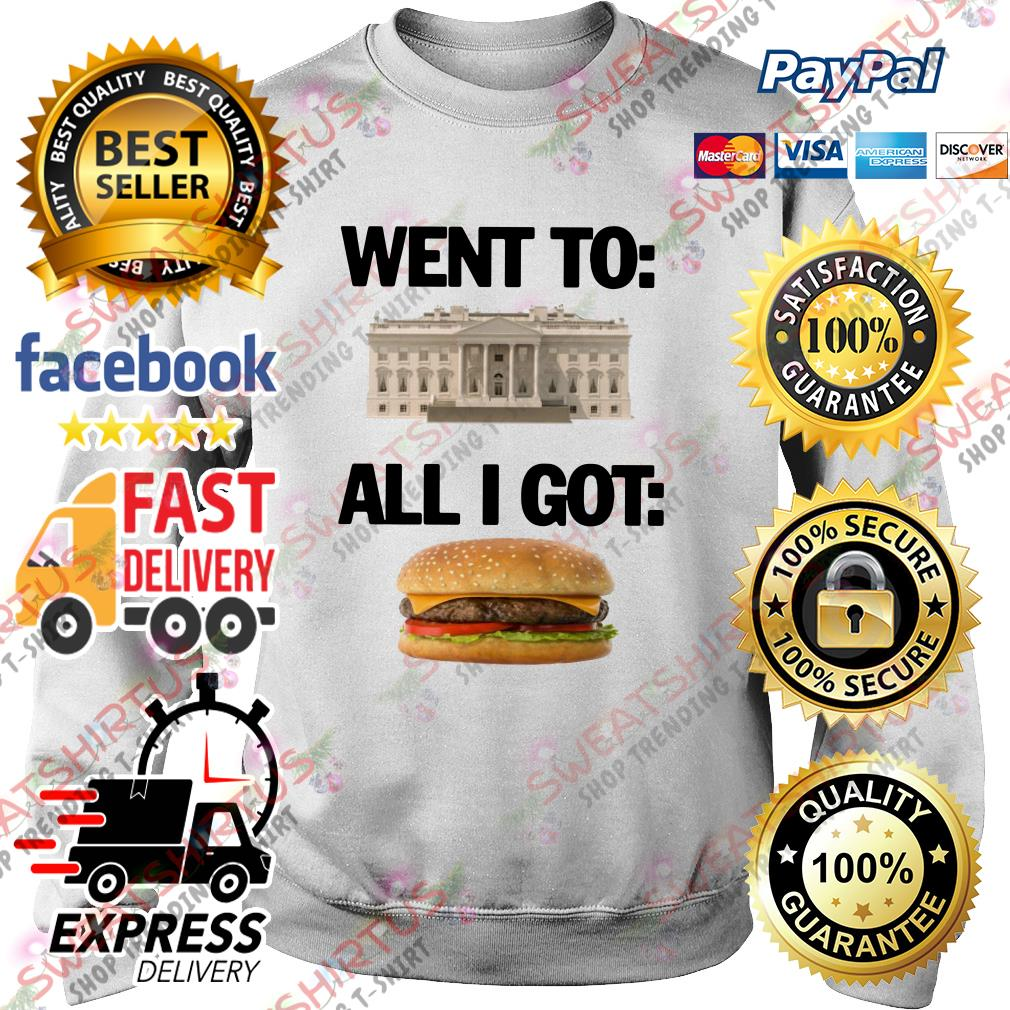 Went to White House all I got hamburger Sweater
