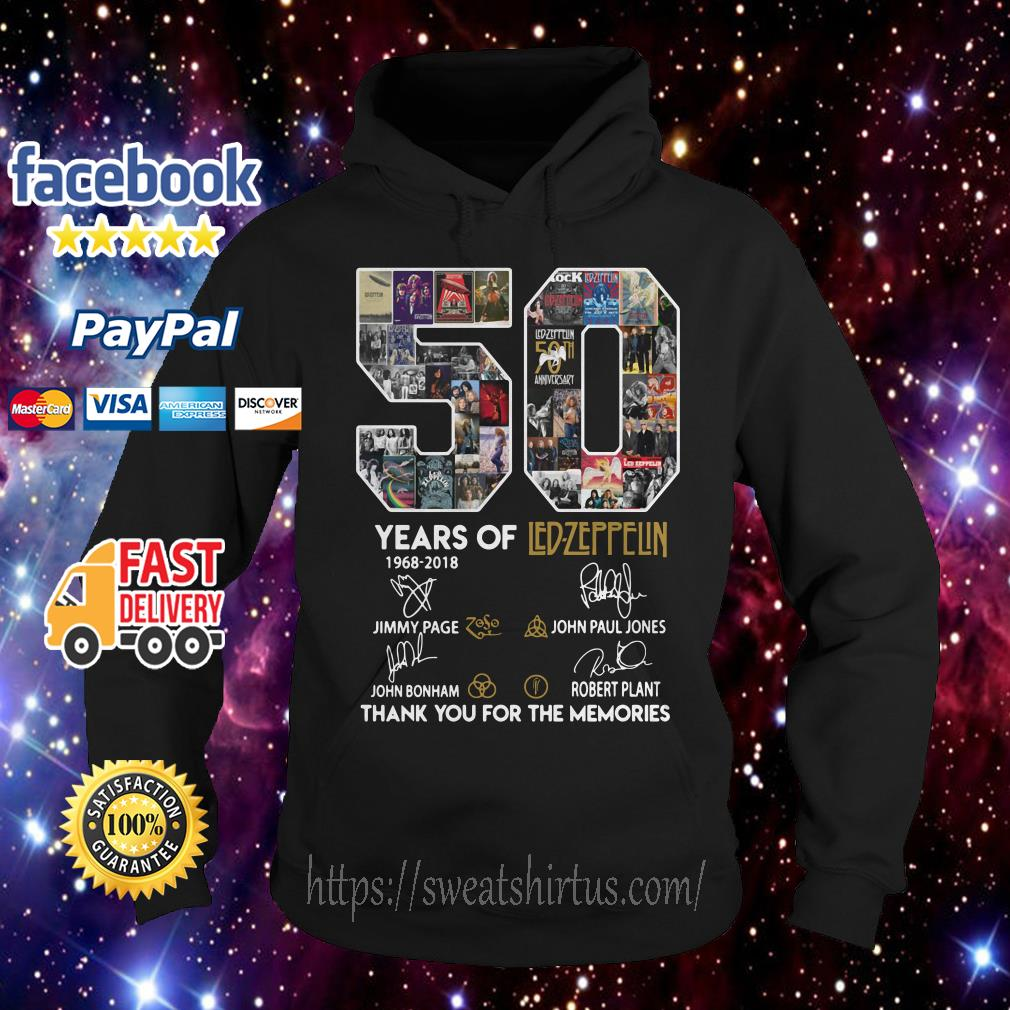 50 years of Led Zeppelin signature Hoodie