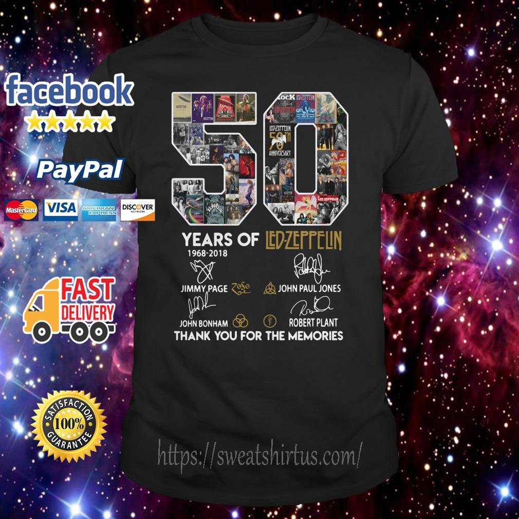 50 years of Led Zeppelin signature shirt